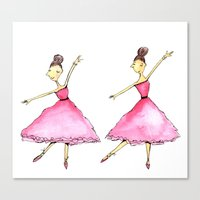 ballet Canvas Prints featuring Ballet by K. Fry Illustration