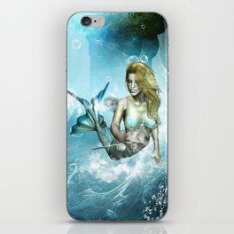 Beautiful mermaid iPhone Skin