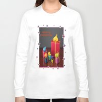 gift card Long Sleeve T-shirts featuring Merry Christmas Gift Boxes Holiday Card  by taiche
