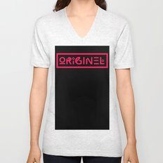 Originel rouge Unisex V-Neck