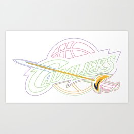 Cavaliers Sports Team Art Print