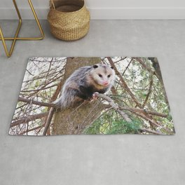 Possum on a Branch Rug