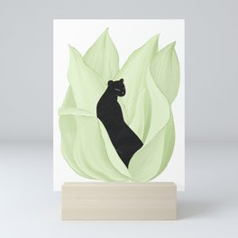 Black Panther in Sansevieria Mini Art Print