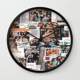 friends wallpaper Wall Clock