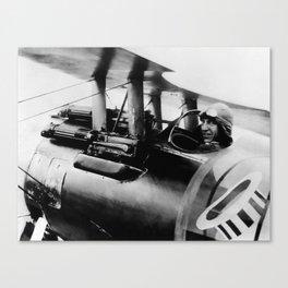 Eddie Rickenbacker in his SPAD Biplane - WW1 Canvas Print