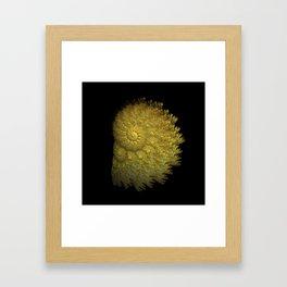 3D Fractal Seashell Framed Art Print