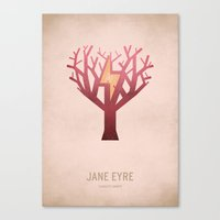 jane eyre Canvas Prints featuring Jane Eyre by Christian Jackson