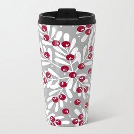 Snow Berries Metal Travel Mug