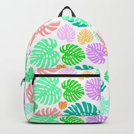 Simply Monstera in Mod Multi + White Backpack