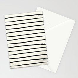Horizontal Ivory Stripes II Stationery Cards