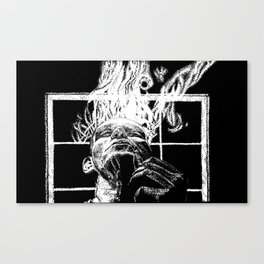 Ink and smoke Canvas Print