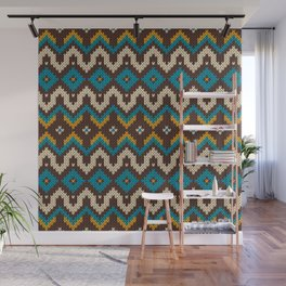 Modern knitted fair isle ethnic style Wall Mural