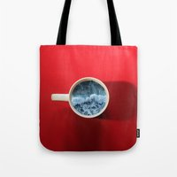witchoria Tote Bags featuring Seapression by witchoria
