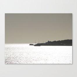 Silver harbor Canvas Print