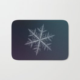 Real snowflake macro photo - Neon Bath Mat