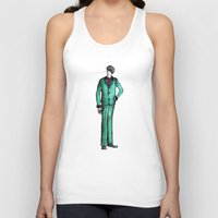 givenchy Tank Tops featuring Beetles Green Dandy by Notsniw