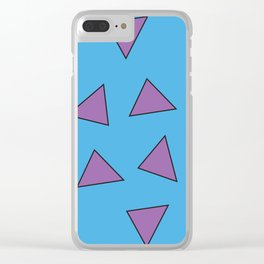 Rocko's Triangles Clear iPhone Case