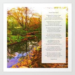 Nature's Heart Healer Poem Art Print