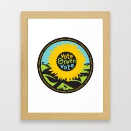 """Green Party Alameda County """"Vote Green"""" Framed Art Print"""