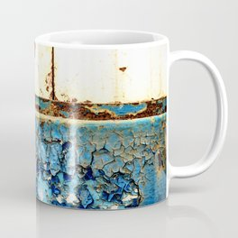 Industrial Rust on Blue Metal Coffee Mug