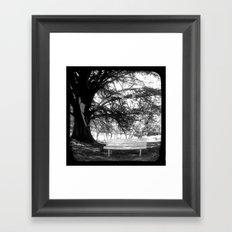 The Park Bench - Through The Viewfinder (TTV) Framed Art Print
