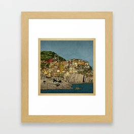 Of Houses and Hills Framed Art Print