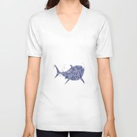 finding nemo V-neck T-shirts featuring Finding Nemo Bruce Disneys by Carma Zoe