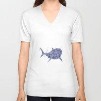 nemo V-neck T-shirts featuring Finding Nemo Bruce Disneys by Carma Zoe