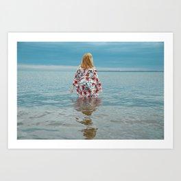 Woman in the Water Art Print