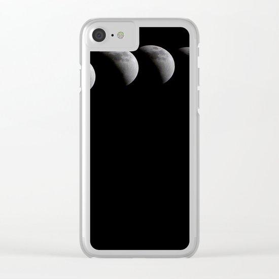 Eclipse Lune Clear iPhone Case