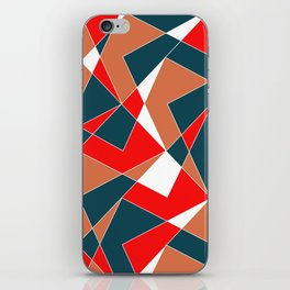 Broken Pattern (Red) iPhone Skin