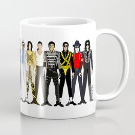 Outfits of King MJ Pop Music Coffee Mug