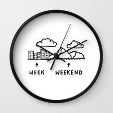 Week vs Weekend Wall Clock