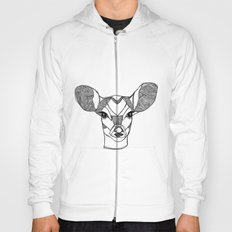 Monochrome Deer by Ashley Rose Hoody