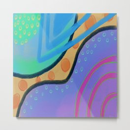Colorful Abstract Art Digital Painting  Metal Print