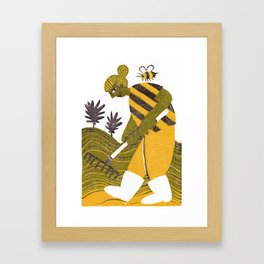 Rake Them Seeds Framed Art Print