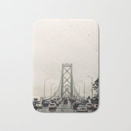 San Francisco Bridge Traffic Bath Mat