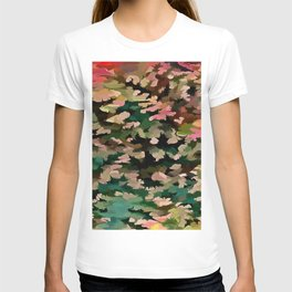 Foliage Abstract In Autumnal Tones T-shirt
