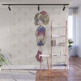 JAPANESSE DOLL ILLUSTRATION BY ALBERTO RODRÍGUEZ Wall Mural