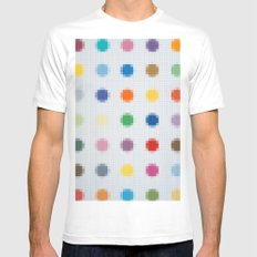 Lego: Spots White MEDIUM Mens Fitted Tee
