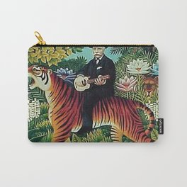 Traumgarten Tiger Riding Ukelele Man by Henri Rousseau Carry-All Pouch