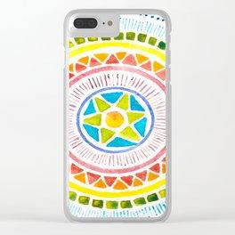 Rainbow Chakra Watercolor Mandala Clear iPhone Case