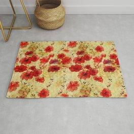 Rose flower vintage pattern Rug