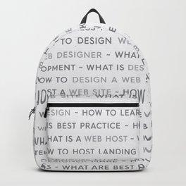 Grey Web Design Keywords Poster Concept Backpack