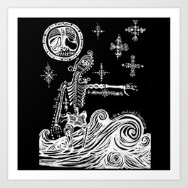 A Midnight Happening Art Print