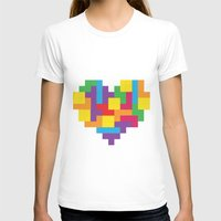 tetris T-shirts featuring Tetris Heart by Shannon's Sketchfest