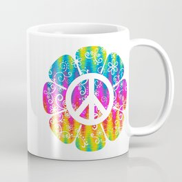 Colorful Peace Symbol Flower  Coffee Mug