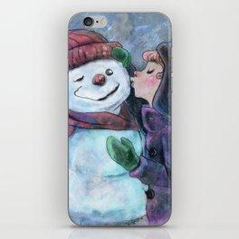 Kiss a snowman iPhone Skin