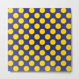 Blue and Yellow Dodecagons Metal Print
