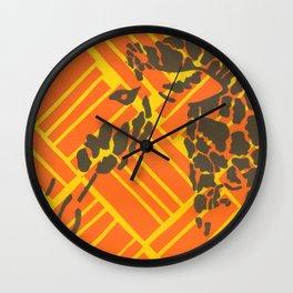 Screenprinted Giraffe Wall Clock